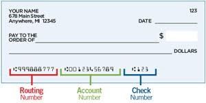 direct deposit check